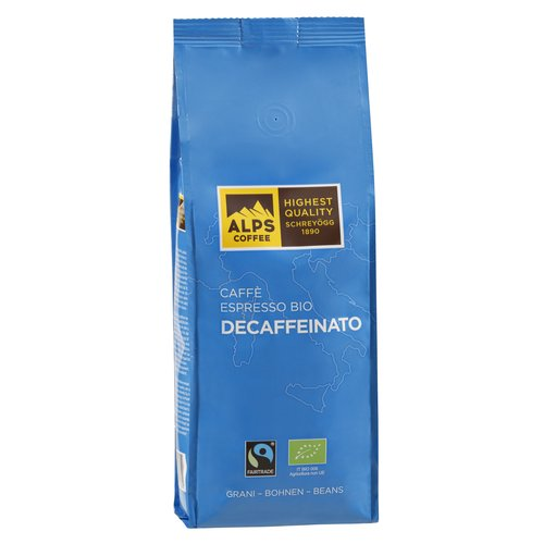 Alps Coffee Schreyögg - DECAFFEINATO BIO - 500g Bohnen DE-ÖKO- 006 Fairtrade